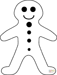 gingerbread boy coloring free printable coloring pages