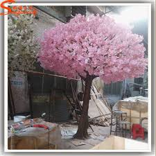 outdoor artificial trees silk cloth flowers pink cherry blossom