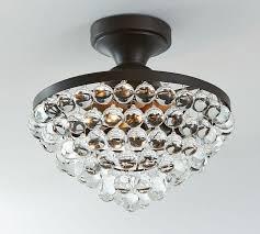 pottery barn ceiling lights callia crystal flushmount pottery barn for brilliant house flush