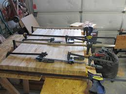 butcher block build n cook with tom of the butcher block it will no longer fit through the planer so those joints have to be smooth enough so that they can be finished with a belt sander