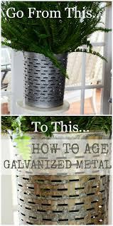 how to age galvanized metal stonegable