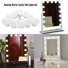 Dressing Room Mirror Lights 10ft White Dressing Mirror Lighted Cosmetic Makeup Vanity Led