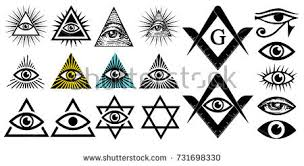 illuminati symbols all seeing eye illuminati symbols masonic image vectorielle