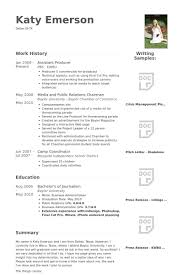 Interactive Resume Examples by Assistant Producer Resume Samples Visualcv Resume Samples Database