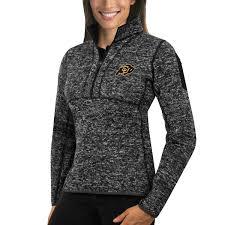 womens sweater antigua black colorado buffaloes fortune 1 2 zip pullover sweater