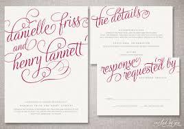 Calligraphy Wedding Invitations Romantic Calligraphy Danielle Wedding Invitation