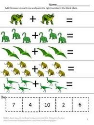 counting fun with dinosaurs cut and paste worksheet easy as 1 2