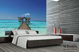 poster chambre ordinaire chambre avec papier peint 5 poster mural plage de