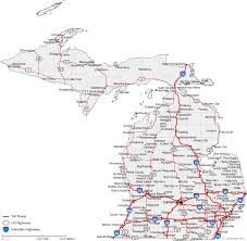 map of michigan map of michigan cities michigan road map