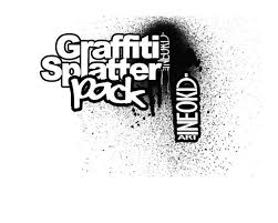 Font Spray Paint - 30 photoshop graffiti brushes for urban themed artworks creative