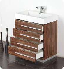 Modern Walnut Bathroom Vanity 29 5 Fresca Livello Fvn8030gw Walnut Modern Bathroom Vanity W