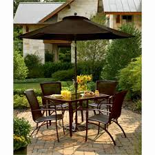 Patio Set With Umbrella Fabulous Patio Dining Room Set Design With Metal Chairs And