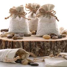 linen favor bags linen lace fabric favor bags shop paper mart