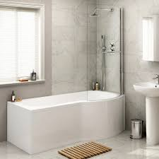 1700x850mm right hand p shaped bath with 4mm screen rail 1700x850mm right hand p shaped bath with 4mm screen rail front panel