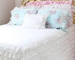 Bed Skirt With Split Corners Romantic Bed Skirt Etsy