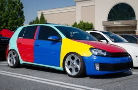 volkswagen golf mk6 vw golf 6 gti with harlequin theme spotted in connecticut