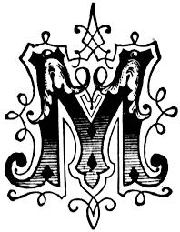 m ornamental letter clipart etc