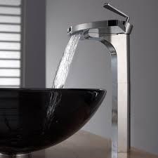 Black Vessel Sink Faucet Bathroom Glass Vessel Sink And Faucet Combination Kraususa Com