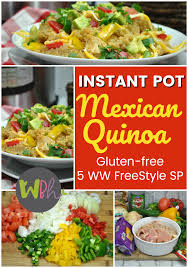 cuisine ww weight watchers freestyle instant pot quinoa recipe gluten