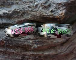 camo wedding rings his and hers camo wedding rings etsy