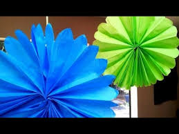 tissue paper fans tissue paper decorations how to make tissue paper fans