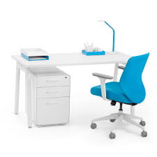 White Desk Series A Single Desk White 57