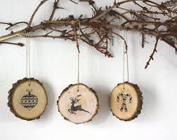 rustic ornament etsy