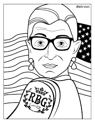 Celebrate The Notorious Rbg S Birthday With This Printable Coloring Book Page