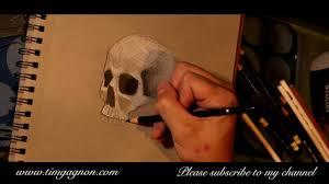 Halloween Skull Drawings Sketchbook Diaries 2 How To Draw Cross Hatching A Halloween