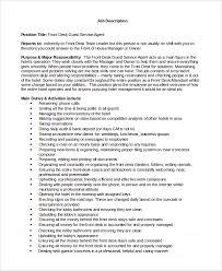 Front Desk Agent Resume Sample by Front Desk Job Description Image Gallery Of Nice Design Ideas