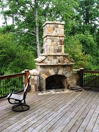 outdoor fireplace for deck