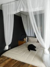 Wall Canopy Bed by Bedroom Interior Design With Dark Wood Canopy Bed With White