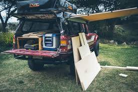 homemade truck bed desk to glory drawers and sleeping platform build desk to glory
