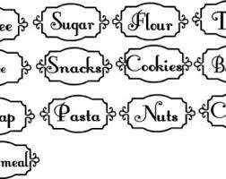 9 best images of pantry canister labels chalkboard canister