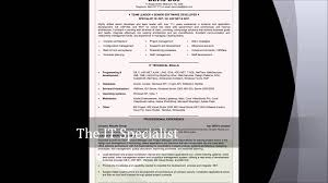 Resume Sample Quality Assurance Specialist by Itouch Resume Samples Youtube
