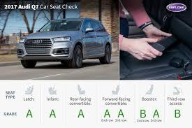 audi q7 third row legroom 2017 audi q7 car seat check cars com