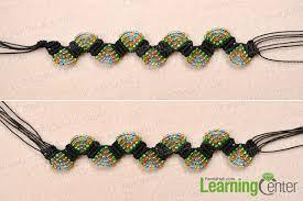 macrame beads bracelet images How to make adjustable macram beaded bracelets with nylon thread jpg