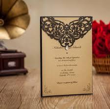 muslim invitation cards hawaiian wedding invitations black rhinestone laser cut muslim