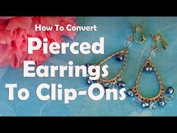 how to convert clip on earrings to pierced earrings diy jewelry repair how to convert pierced earrings to clip ons