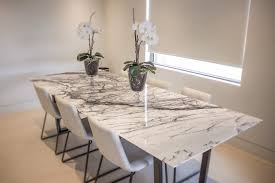 Long White Dining Table by Marble Dining Room Table Provisionsdining Com