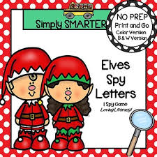 themed letters elves letters no prep christmas themed letter matching i