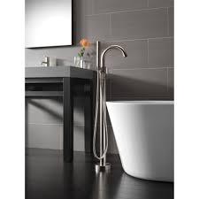 Delta Trinsic Faucet Black by Delta Faucet T4759 Blfl Trinsic Matte Black Freestanding Tub Only