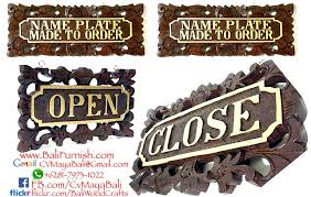 Desk Name Plates Wood Balinese Wood Carvings Desk Nameplates From Bali Indonesia