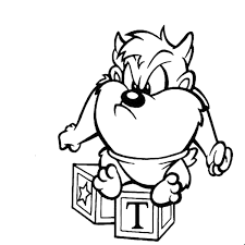 taz mania coloring pages