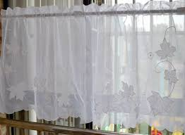 petit rideau de cuisine esthétique feuille d érable tige poche fenêtre rideau