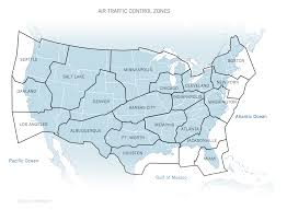 Maps Traffic The Contiguous United States U0027 Air Traffic Control Zones 1332x978