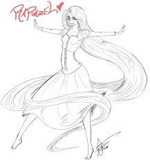 barbie rapunzel coloring pages coloring page