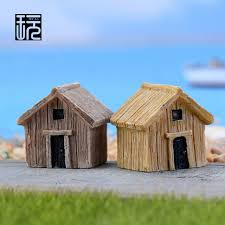 model house decoration zakka resin mini chalet huts model house ornament crafts diy fairy