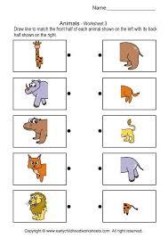 matching worksheet for kindergarten kids matching worksheets