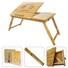 plateau pour bureau todeco table portable pour ordinateur plateau de lit pliable